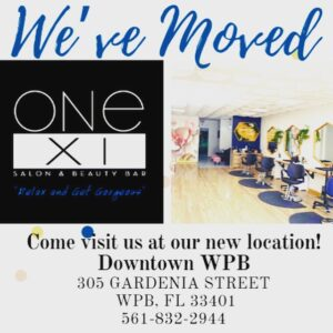 One XI Salon New Location as of December 1, 2020